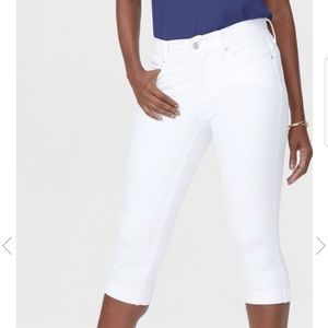 NYDJ White Marilyn Straight Crop Jeans sz 10 - EUC